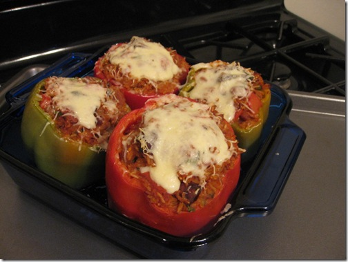 Danica's Daily Cheesy Bacon & Bean Stuffed Peppers