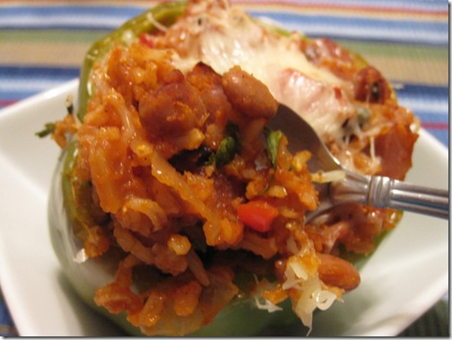 IMG 4266 thumb Guest Recipe: Danicas Daily Cheesy Bacon & Bean Stuffed Peppers