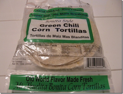 Sonora Style Green Chili Corn Tortillas