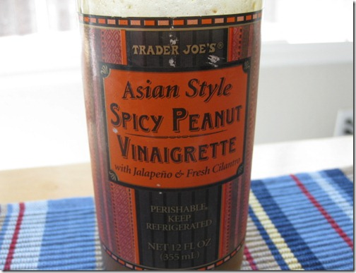 Trader Joe's Asian Style Spicy Peanut Vinaigrette