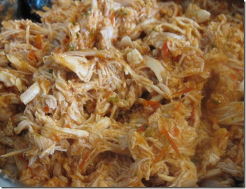 Spicy, Shredded Chicken