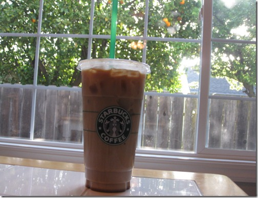 Starbuck's Venti Iced Latte