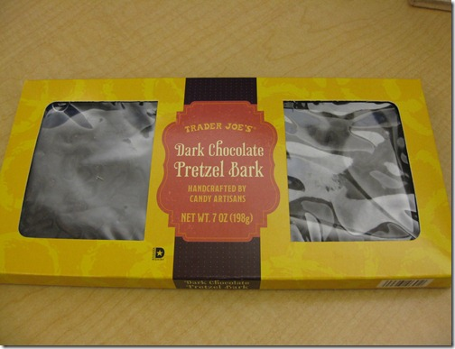 Trader Joe's Dark Chocolate Pretzel Bark