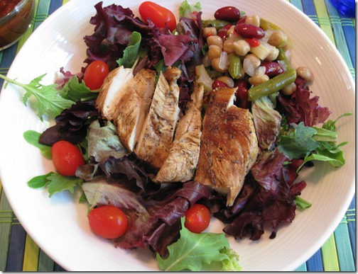 Grilled Chicken & Bean Salad