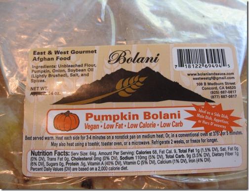 Pumpkin Bolani Bread
