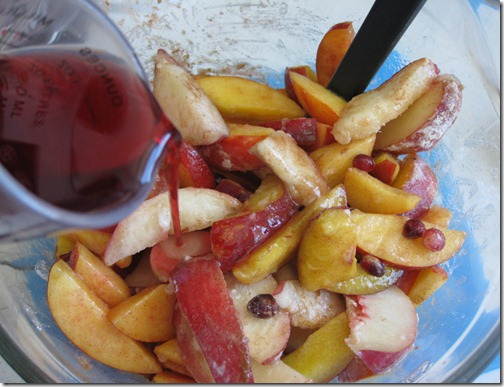 Nectarine Crisp Filling