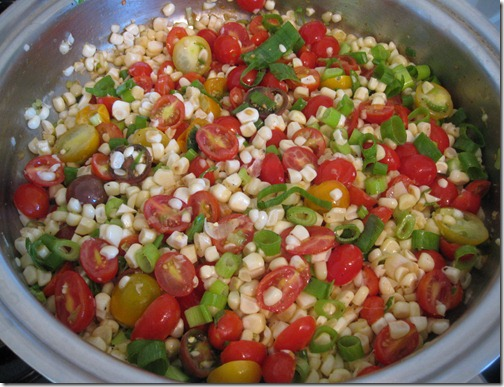 Warm Tomato-Corn Salad