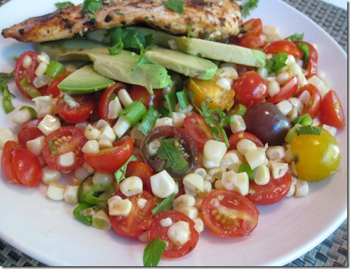 Tomato Corn Salad with Avocado