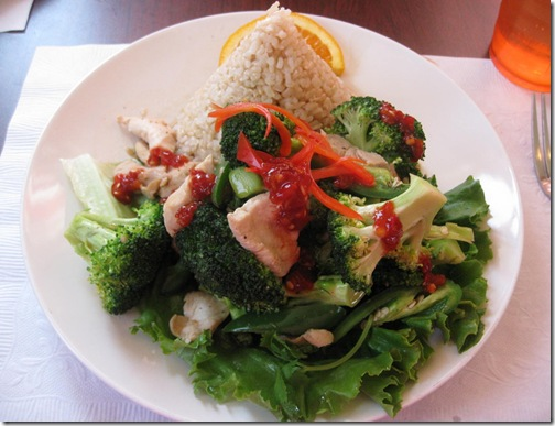 Thai Broccoli chicken with Brown Rice