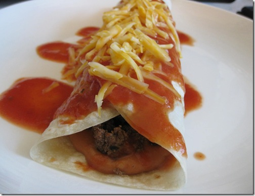 Easy Beef and Bean Burritos