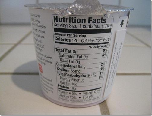 Siggi's Nutrition Information