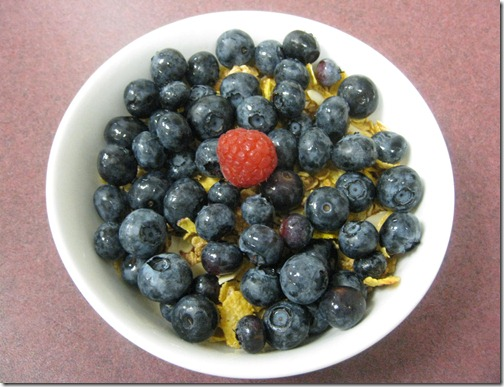Organic Blueberries + Honey Bunches of Oats