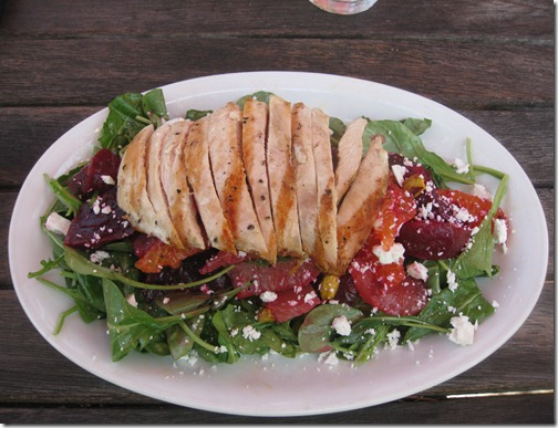 Grilled Chicken Beet Citrus Salad