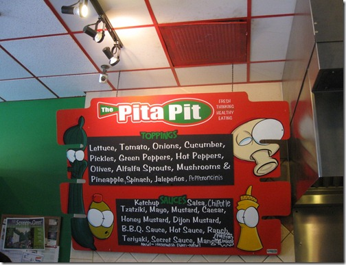 The Pita Pit Toppings & Sauces