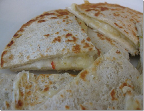 Green Chile Cheese Quesadilla