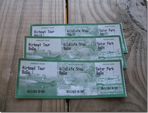 Gator Park Tickets