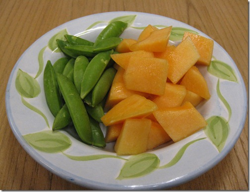 Melon and Snap Peas