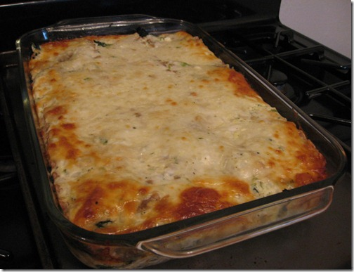 Spinach & Four Cheese Lasagna