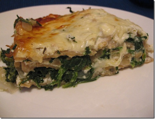 Spinach & 4 cheese Lasagna