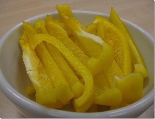 Yellow Bell Pepper Strips