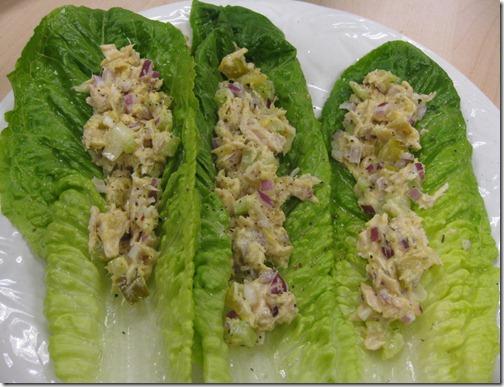 Crunchy Tuna Lettuce Wraps