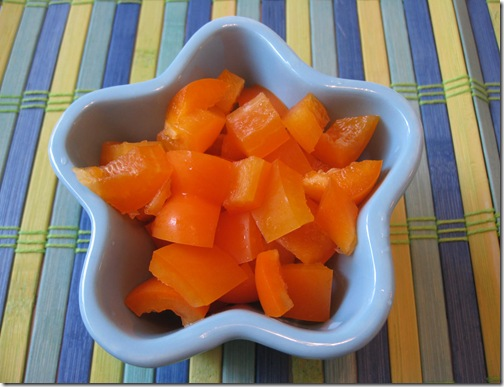 Diced Orange Bell Pepper