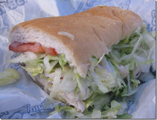 Port of Subs Turkey Provolone Sandwich