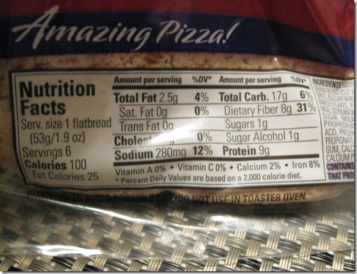 Flat Out Multi-Grain Wraps Nutritional Information