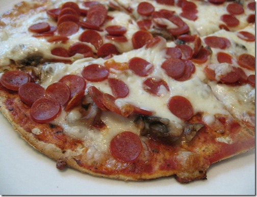 Turkey Pepperoni & Mushroom Pizza