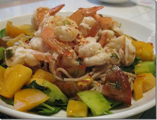 Shrimp Scampi with Heirloom Tomatoes