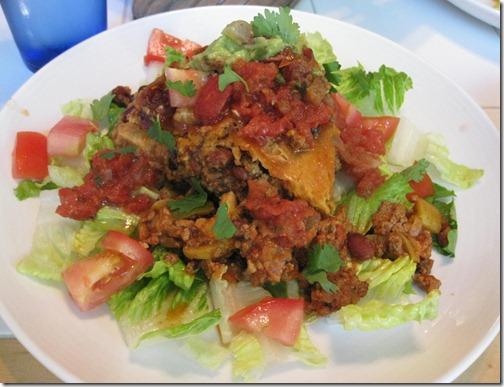Slow Cooker Taco & Bean Casserole