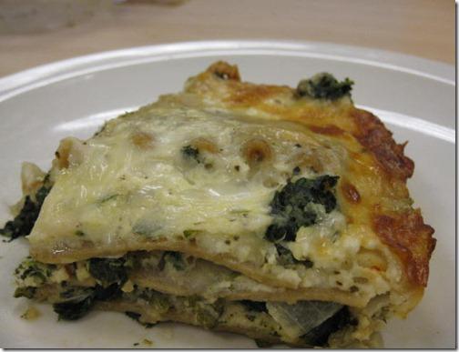 Spinach & 4-Cheese Lasagan