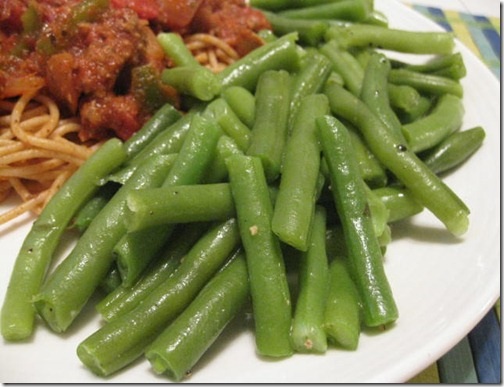 Fresh Green Beans with Butter