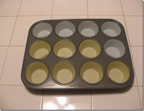Lined Muffin Pan