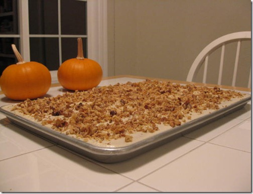 Pumpkin Bars with Walnuts