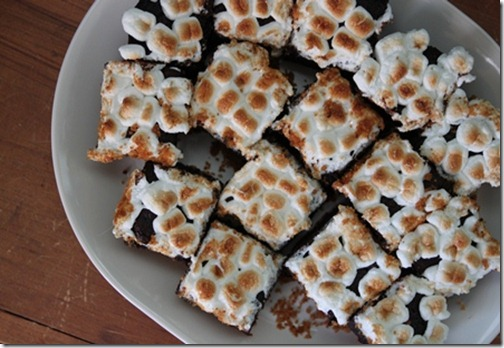 Marshmallow S'mores Brownies