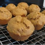 Banana Nut Pumpkin Butter Muffins with Flax