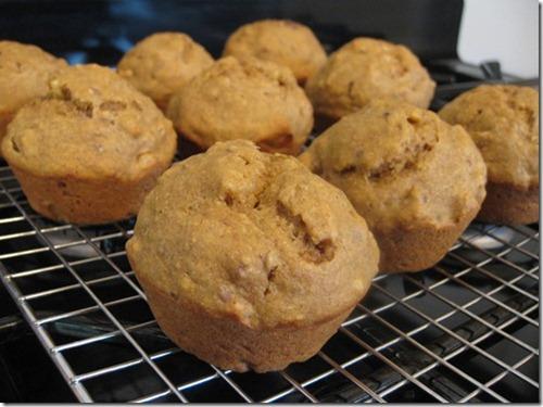 Banana Nut Pumpkin Butter Muffins with Flax
