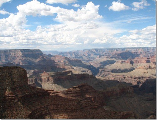 Layers of rock at the Grand Canyon