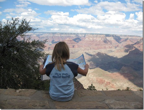 My niece giving us directions at the Grand Canyon