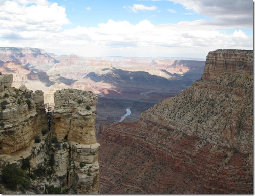 Rock formations at the Grand Canyon