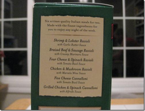 Buitoni Frozen Meal Flavors