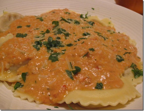 Buitoni Ravioli's with Creamy Tomato Marinara