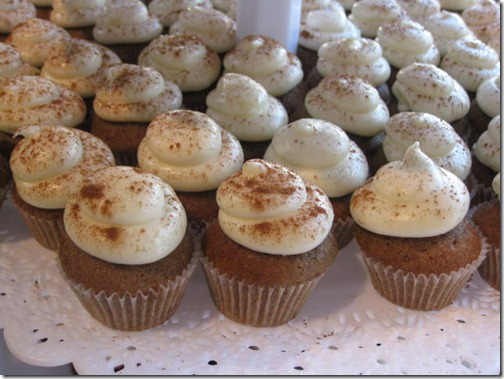 Cinnamon Spice Mini Cupcakes