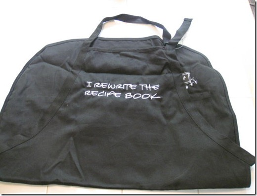 I rewrite the recipe book apron