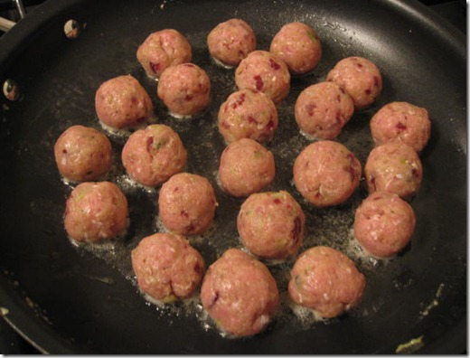 Pan fried meatballs