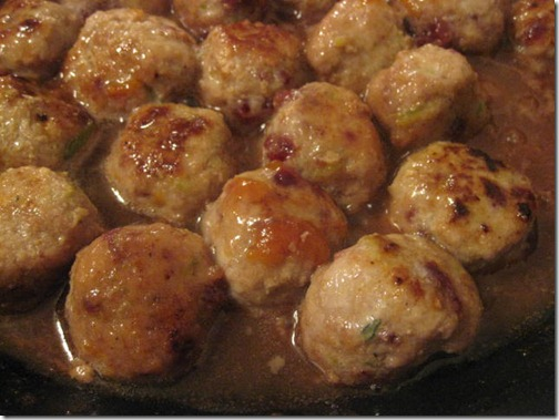 Apricot Merlot Glazed Turkey Cranberry Meatballs