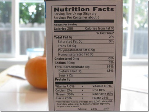 Eating Right Wheat Rotini Nutritional Information