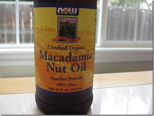 Certified Organic Macadamia Nut Oil