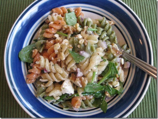 Ellie Kriegers Whole Wheat Pasta salad with walnuts and feta